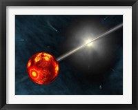 Framed Artist's Concept of the Formation of the Solar System