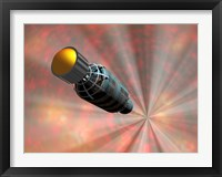 Framed Illustration of a Spacecraft Travelling Faster than the Speed of Light