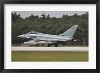 Framed Eurofighter Typhoon of the German Air Force Taking Off