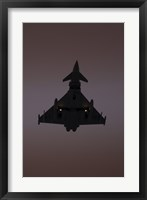 Framed German Air Force Eurofighter Typhoon Approaching at Sunset