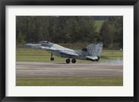 Framed Slovak Air Force MiG-29AS Fulcrum Landing on the Runway
