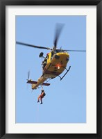 Framed CH-146 Griffon Helicopter of the Canadian Air Force
