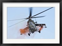 Framed Czech Air Force Mi-35 Hind Helicopter