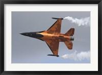 Framed Dutch Air Force F-16A During a Flight Demonstration