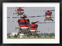 Framed Indian Air Force Dhruv Helicopters