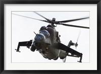 Framed Polish Army Mil Mi-24V Hind in Flight