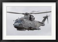 Framed Royal Navy EH-101 Merlin in Flight, Jagel, Germany