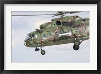 Framed Slovak Air Force Mi-17 Hip in digital camouflage