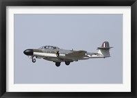 Framed Gloster Meteor Historic Jet of the Royal Air Force