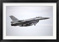 Framed Polish Air Force F-16C Block 52 in Flight Over Spain