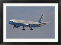 Framed Boeing C-32A of the 89th Airlift Wing, in Flight over Germany