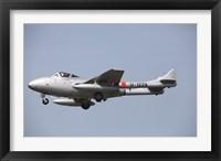 Framed De Havilland DH 112 Venom Jet Trainer of the Swiss Air Force