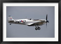 Framed Supermarine Spitfire of the Dutch Historic Flight Team