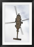 Framed US Navy MH-60R Seahawk in Flight Over Coroando, California