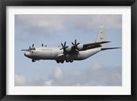Framed Royal Norwegian Air Force C-130J Hercules