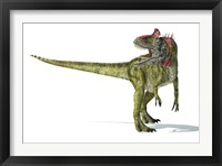 Framed Cryolophosaurus Dinosaur