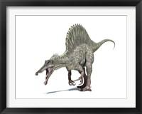 Framed 3D Rendering of a Spinosaurus Dinosaur