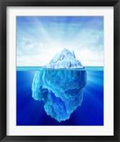 Framed Solitary Iceberg in the Sea