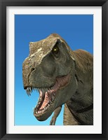 Framed 3D Rendering of Tyrannosaurus Rex, Close-up