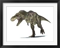 Framed 3D Rendering of a Tyrannosaurus Rex Dinosaur