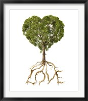 Framed Tree with Foliage in the Shape of a Heart