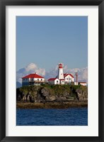 Framed Canada, British Columbia Green Island Lighthouse