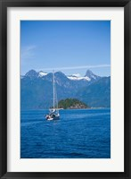 Framed Sailboat, Desolation Sound, British Columbia, Canada