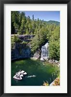 Framed Waterfall, Desolation Sound, British Columbia