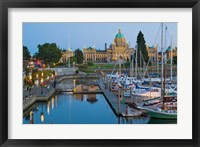 Framed Inner Harbor at Victoria, British Columbia