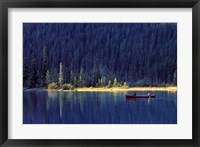 Framed Fishing on Waterfowl Lake, Banff National Park, Canada