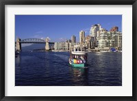 Framed Aquabus, Vancouver, British Columbia, Canada