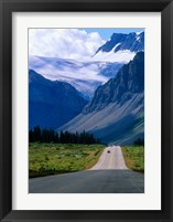 Framed Road into the Mountains of Banff National Park, Alberta, Canada