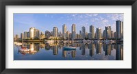 Framed City Skyline, False Creek, Vancouver, British Columbia