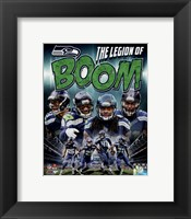 Framed Seattle Seahawks Composite - Earl Thomas, Richard Sherman, Kam Chancellor, Byron Maxwell