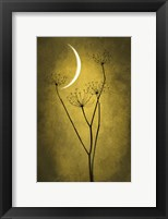 Framed Yellow Crescent Moon