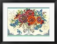 Framed Frilly Floral