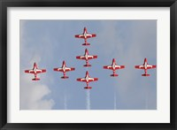 Framed Snowbirds 431 Air Squadron of the Canadian Air Force