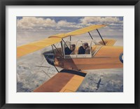 Framed De Havilland DH82 Tiger Moth basic Trainer Biplane from the 1930's