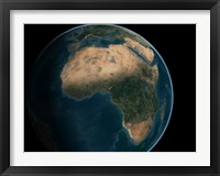 Framed Full Earth from Space Above the African Continent