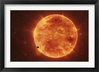 Framed Massive Red Dwarf Consuming Planets Within it's Range
