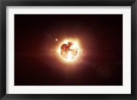 Framed Dying Star which will soon give New Beginning to a Black Hole