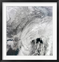 Framed Satellite View of a Large Nor'easter