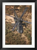 Framed AH-64D Apache Flying over Northern Iraq
