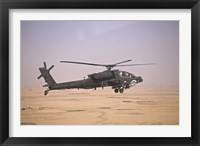 Framed AH-64D Apache Helicopter on a Mission