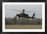 Framed AH-64 Apache Helicopter in Midair, Conroe, Texas
