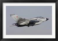 Framed German Air Force Tornado ECR taking off over Germany