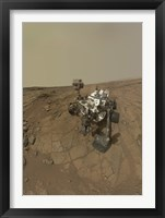 Framed Self-Portrait of Curiosity Rover on the Surface of Mars