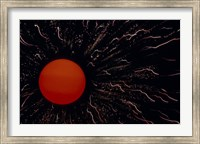 Framed Abstract Image of the Sun