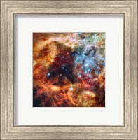 Framed Hubble Space Telescope image of the R136 Super Star Cluster