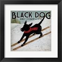Framed Black Dog Ski Co.